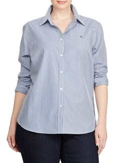 Lauren Ralph Lauren Plus Striped Button-Down Shirt
