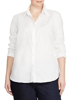 Lauren Ralph Lauren Plus Size Cotton Button-Down Shirt