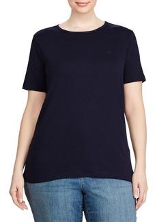 Lauren Ralph Lauren Plus Monogram Cotton T-Shirt