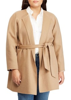 Lauren Ralph Lauren Plus Plus Size Wool-Blend Belted Coat