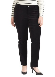 Lauren Ralph Lauren Plus Stretch Velvet Premier Straight Pants