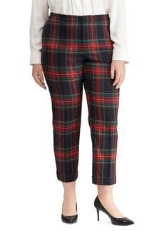 Lauren Ralph Lauren Plus Tartan Skinny Crop Pants