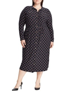 Lauren Ralph Lauren Plus Print Jersey Shirt Dress