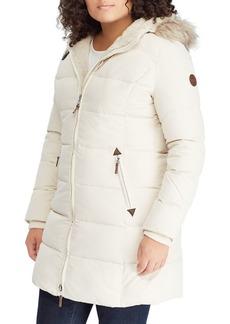 Lauren Ralph Lauren Plus Quilted Faux Fur Jacket