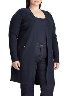 Lauren Ralph Lauren Plus Ribbed Long Cardigan