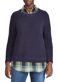 Lauren Ralph Lauren Plus Roundneck Layered Sweater
