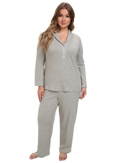 Ralph Lauren Plus Size Hartford Lounge PJ Set with Quilted Collar