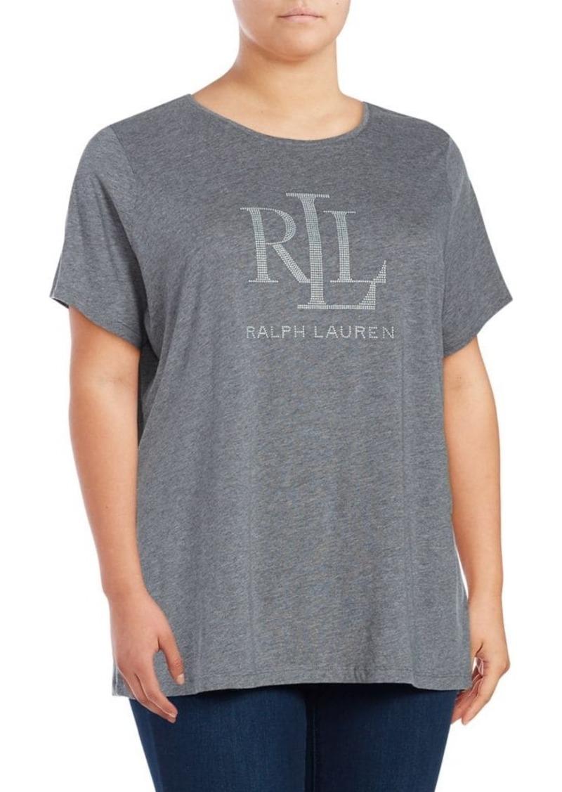Lauren Ralph Lauren Plus Smoky Logo Tee