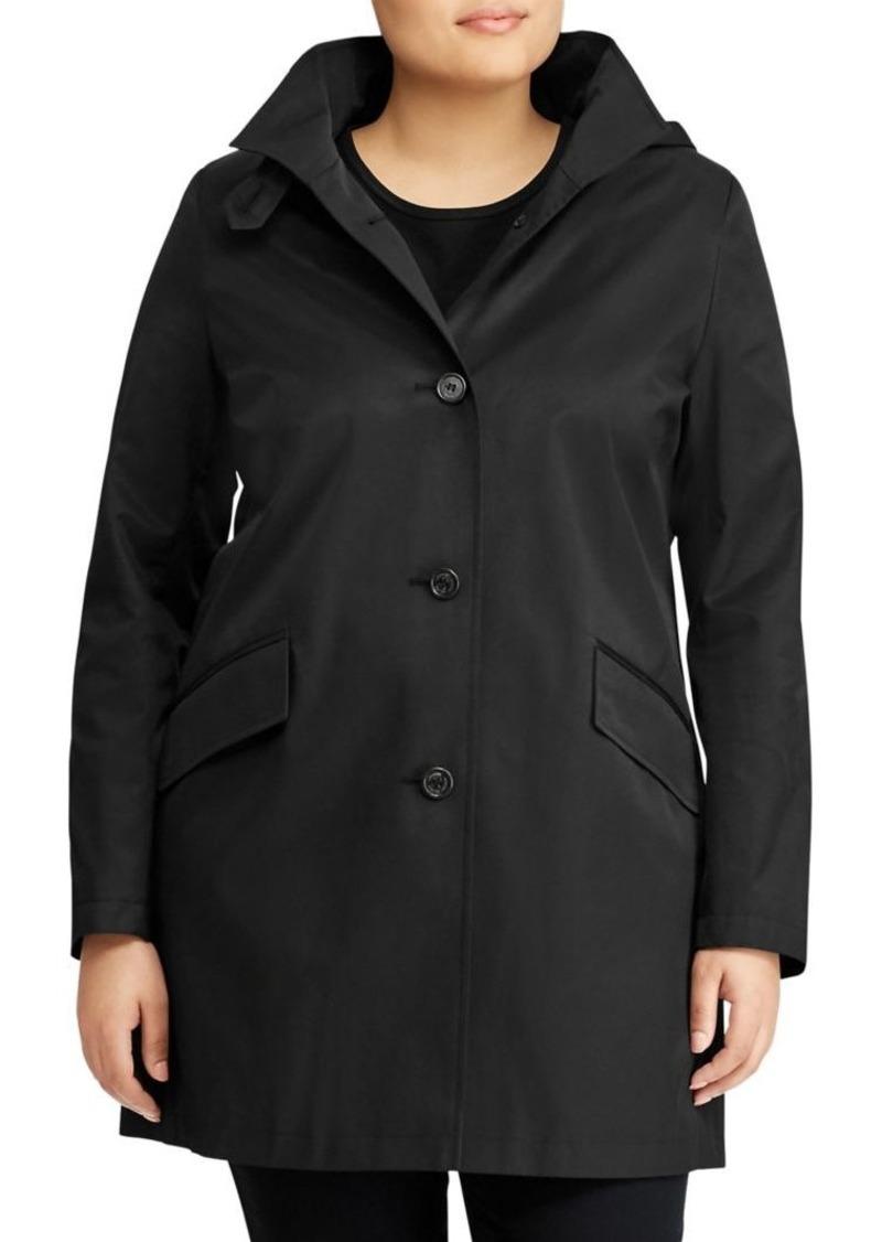 Lauren Ralph Lauren Plus Straight-Fit Cotton-Blend Hooded Jacket
