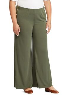 Lauren Ralph Lauren Plus Stretch Jersey Wide-Leg Pants