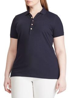 Lauren Ralph Lauren Plus Stretch Polo Shirt