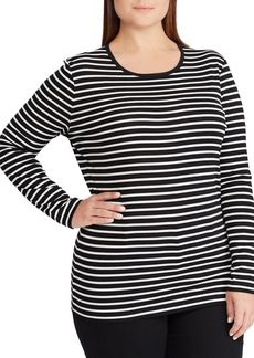 Lauren Ralph Lauren Plus Stripe Long-Sleeve Tee