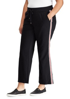 Lauren Ralph Lauren Plus Striped Mid-Rise Sweatpants