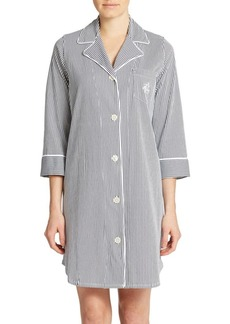 Lauren Ralph Lauren Plus Striped Sleepshirt