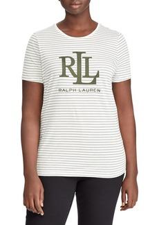 Lauren Ralph Lauren Plus Studded Logo T-Shirt