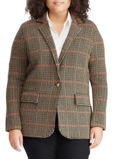 Lauren Ralph Lauren Plus Textured Plaid Jacket