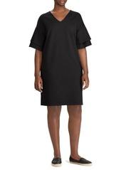 Lauren Ralph Lauren Plus Tiered-Sleeve Shift Dress