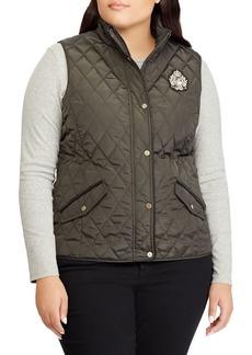 Lauren Ralph Lauren Plus Vented Quilted Vest