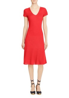 Lauren Ralph Lauren Pointelle Knit Dress