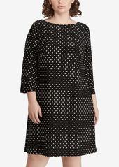 Lauren Ralph Lauren Polka-Dot Ruffle-Sleeve Jersey Dress
