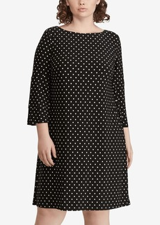 Lauren Ralph Lauren Polka-Dot Ruffle-Sleeve Jersey Dress