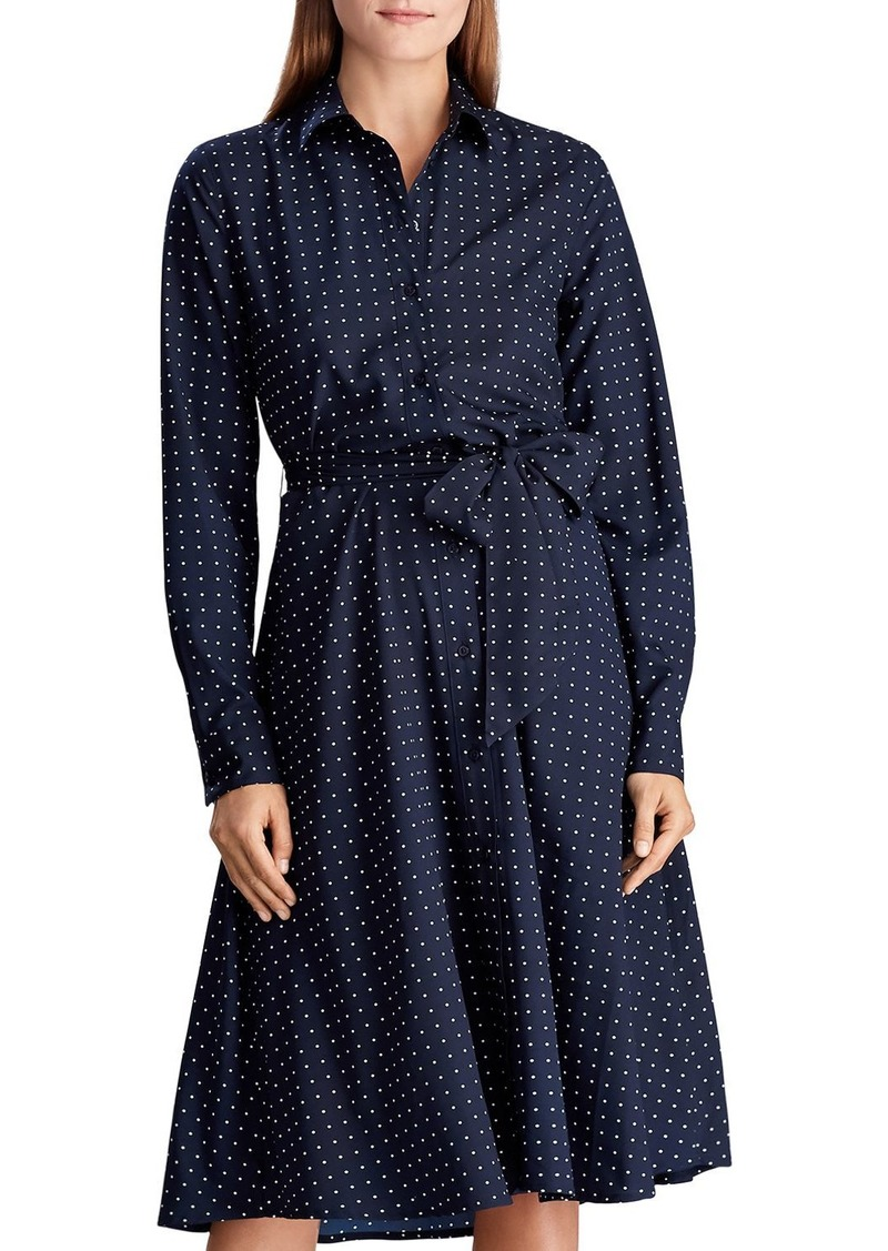 Lauren Ralph Lauren Polka Dot Shirt Dress