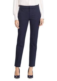 Lauren Ralph Lauren Polka Dot Straight Leg Pants