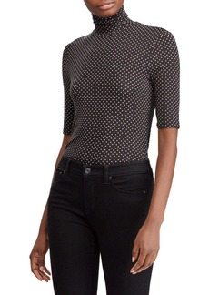 Lauren Ralph Lauren Polka-Dot Turtleneck Sweater