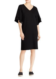 Lauren Ralph Lauren Ponte Flutter-Sleeve Shift Dress