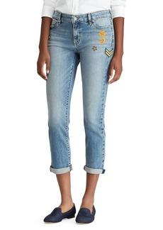 Lauren Ralph Lauren Premier Estate Mid-Rise Cropped Jeans
