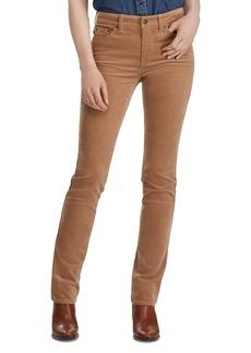 Lauren Ralph Lauren Premier Straight Corduroy Pants in Classic Camel