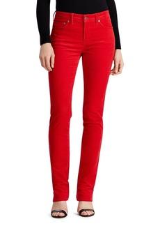 Lauren Ralph Lauren Premier Straight Corduroy Pants in Lipstick Red