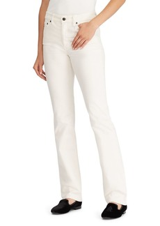 Lauren Ralph Lauren Premier Straight High-Rise Corduroy Jeans
