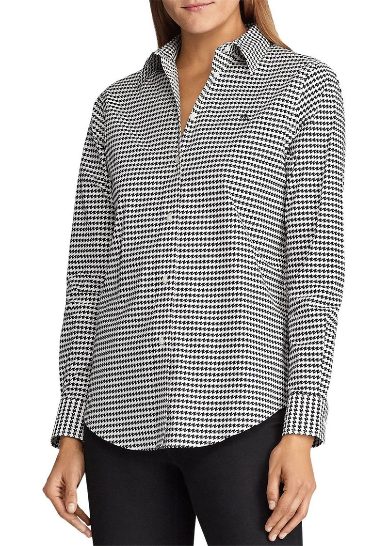 Lauren Ralph Lauren Printed Button-Down Top