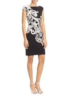 Lauren Ralph Lauren Printed Cap-Sleeve Sheath Dress