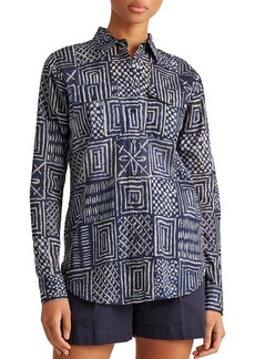 Lauren Ralph Lauren Printed Cotton Shirt