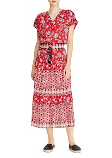 Lauren Ralph Lauren Printed Cotton V-Neck Dress