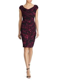 Lauren Ralph Lauren Printed Cowl Neck Dress
