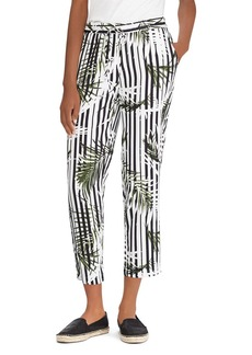Lauren Ralph Lauren Printed Drawstring Crop Pants