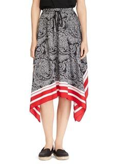 Lauren Ralph Lauren Printed Drawstring Handkerchief Skirt
