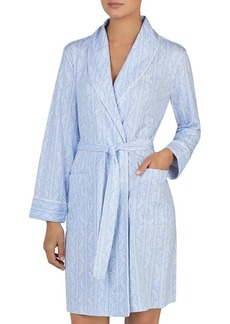 Lauren Ralph Lauren Printed Long-Sleeve Short Robe
