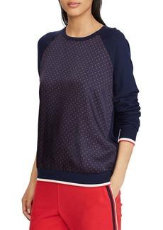 Lauren Ralph Lauren Printed Raglan-Sleeve Pullover