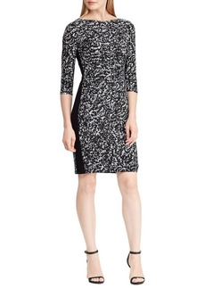 Lauren Ralph Lauren Printed Stretch Jersey Sheath Dress