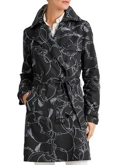 Lauren Ralph Lauren Printed Trench Coat