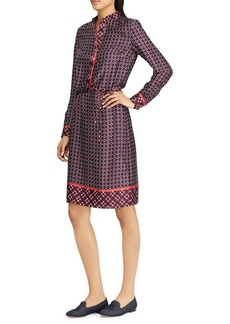 Lauren Ralph Lauren Printed Twill Knee-Length Dress