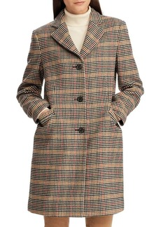 Lauren Ralph Lauren Printed Wool-Blend Coat