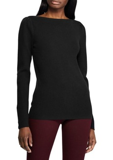 Lauren Ralph Lauren Puff-Sleeve Boatneck Sweater