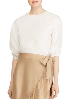 Lauren Ralph Lauren Puff-Sleeve Top