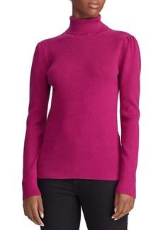 Lauren Ralph Lauren Puff-Sleeve Turtleneck Sweater