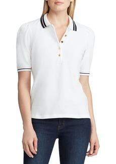 Lauren Ralph Lauren Puffed-Sleeve Stretch Polo